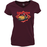 DINGLES FAIRGROUND DODGEM LADIES FIT V-NECK T-SHIRT