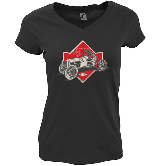 PIKES PEAK OFFICIAL FORD SPECIAL LADIES FIT V-NECK T-SHIRT