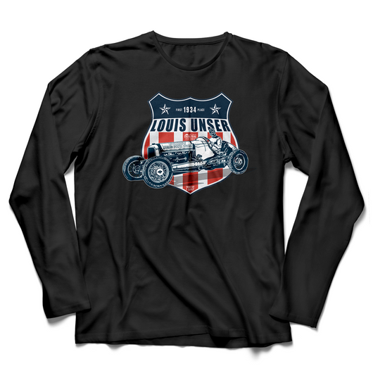 PIKES PEAK 1934 LOUIS UNSER (V1) LONG SLEEVE T-SHIRT