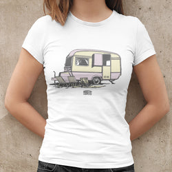 VINTAGE CARAVAN T-SHIRT FOR WOMEN
