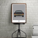 PROJECT SOS MUSTANG INDIVIDUAL FRONT & REAR VIEW ART PRINT