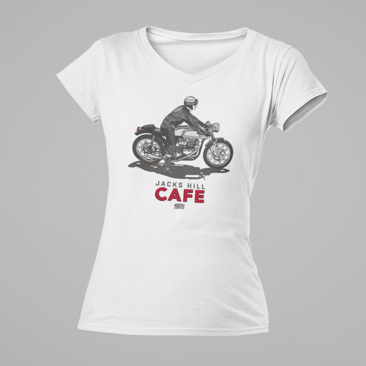 JACKS HILL CAFE RACER LADIES V-NECK T-SHIRT