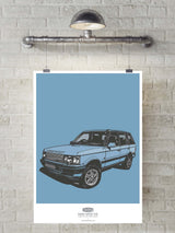 LIMITED EDITION RANGE ROVER P38 ART PRINT