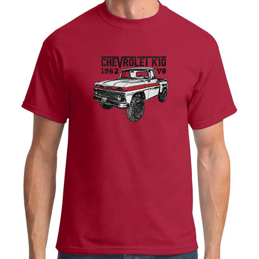 Chevrolet k10 1962 V8 Red T-Shirt