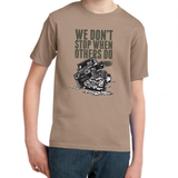 LAND ROVER WE DON'T STOP T-SHIRT FOR KIDS
