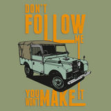 "LAND ROVER ""DON'T FOLLOW ME"" SERIES T-SHIRT"