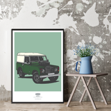 LIMITED EDITION LAND ROVER SERIES THREE ART PRINT