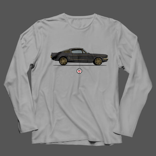 PROJECT SOS MUSTANG SIDE VIEW LONG SLEEVE T-SHIRT