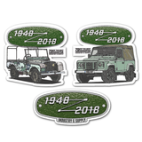 FIRST & LAST LAND ROVER DEFENDER STICKER BUNDLE