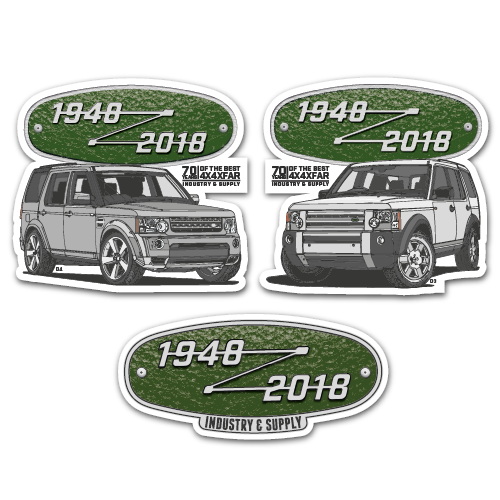 LAND ROVER DISCOVERY 3 & 4 STICKER BUNDLE