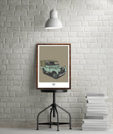 LIMITED EDITION LAND ROVER SERIES ONE ART PRINT