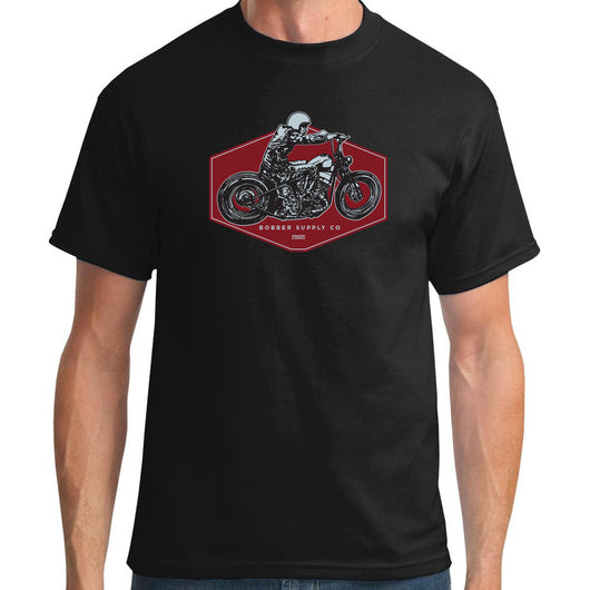 Bobber Supply Deep Black T-Shirt