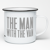 THE MAN WITH THE VAN ENAMEL MUG