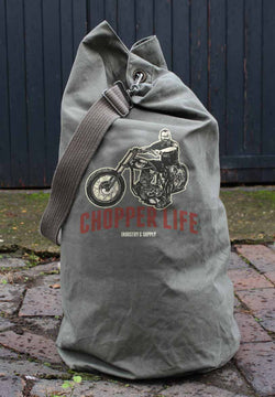 CHOPPER LIFE ARMY SURPLUS KIT BAG - USED CONDITION
