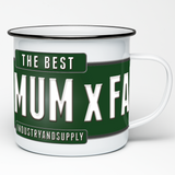 THE BEST 4 X 4 MUM X FAR ENAMEL MUG