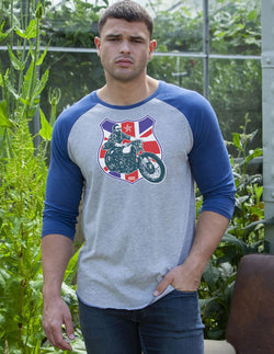 TRIUMPH BASEBALL UNION JACK SHIRT
