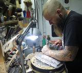 tony the engraver working