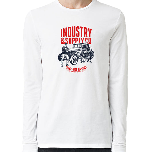 Hotrod 34 Ford Coupe Utility Trackside Services Industry & Supply Long Sleeve Shirt White