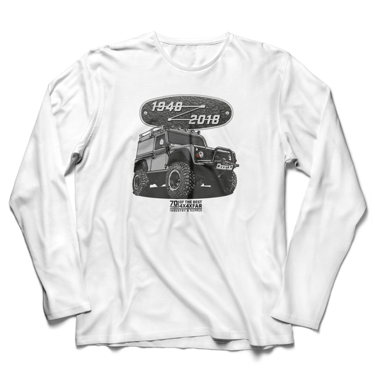 LAND ROVER 70TH BIRTHDAY DEFENDER LONG SLEEVE T-SHIRT