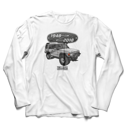 LAND ROVER 70TH BIRTHDAY DISCOVERY LONG SLEEVE T-SHIRT