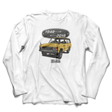 LAND ROVER 70TH BIRTHDAY WHITE LONG SLEEVE T-SHIRT (COLORED)