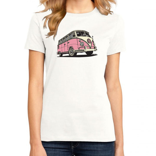 Volkswagen Bus Ladies Fit White T-Shirt