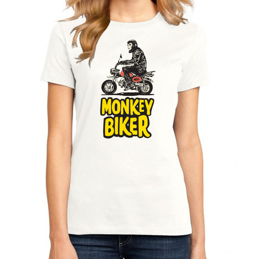 MONKEY BIKER T-SHIRT FOR WOMEN
