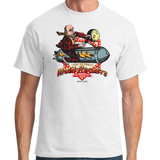 DINGLES FAIRGROUND MOON ROCKET T-SHIRT