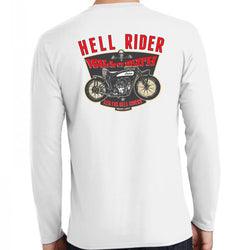 Hell Rider Wall of Death Long Sleeve White Back
