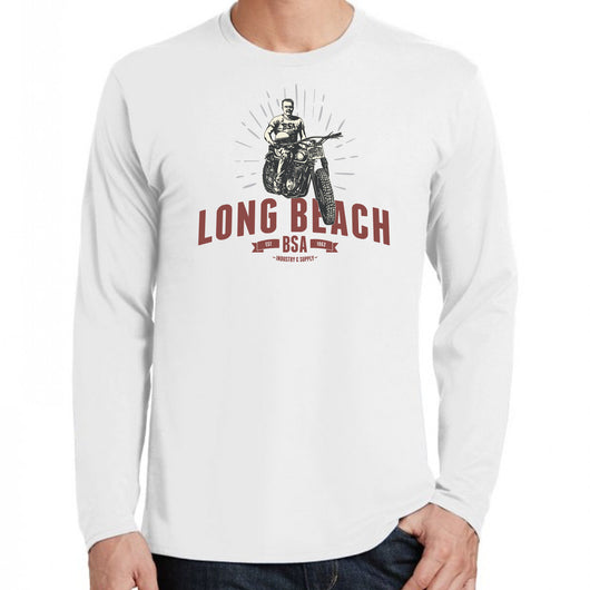 bsa long beach long sleeve t-shirt white