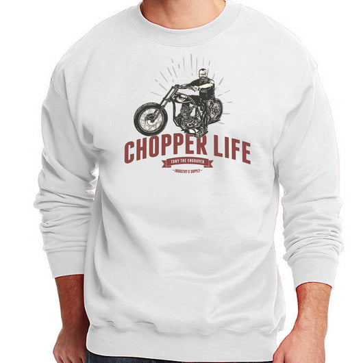 Chopper life sweatshirt white