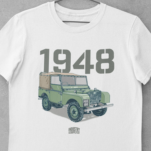LAND ROVER 1948 HUE T-SHIRT