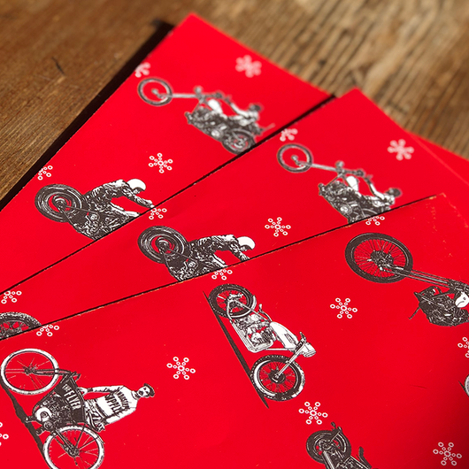 MOTORBIKES CHRISTMAS WRAPPING PAPER