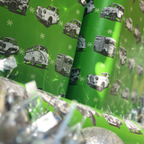 CLASSIC CARS & HOTRODS CHRISTMAS WRAPPING PAPER