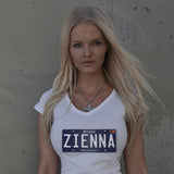 ZIENNA NEVADA PLATE LADIES V-NECK T-SHIRT