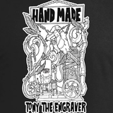 TONY THE ENGRAVER HAND MADE T-SHIRT