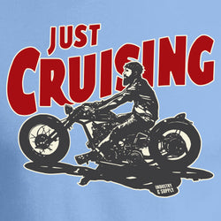 Just Cruising Bobber Motorbike T-Shirt Design Industry and Supply