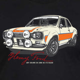 ford escort black long sleeve closeup