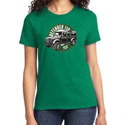 Land Rover Defender 110 Kelly Green Women's T-Shirt