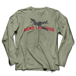 AERO LEGENDS UTILITY NH341 2-SEATER SPITFIRE LONG SLEEVE T-SHIRT
