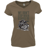 "LAND ROVER ""WE DON'T STOP"" LADIES V-NECK T-SHIRT"