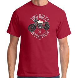 Two Bolts Motorcycles T-Shirt Red