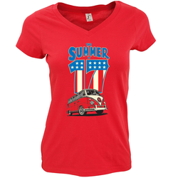 THE SUMMER OF 17 LADIES CUT V-NECK T-SHIRT