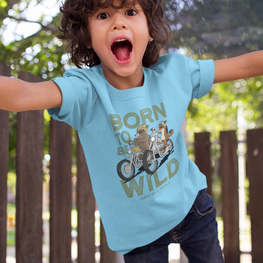 LIZARDILLO BORN TO BE WILD KIDS T-SHIRT