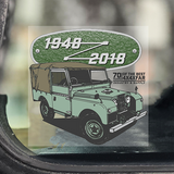 LAND ROVER CLEAR WINDOW STICKERS