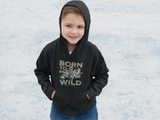 LIZARDILLO BORN TO BE WILD KIDS HOODIE