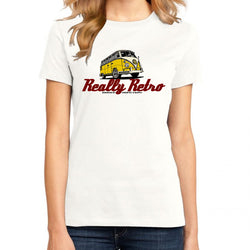 Really Retro Volkswagen Bus White T-Shirt