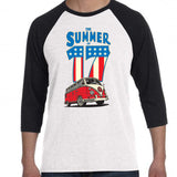 The Summer of 17 Volkswagen Black/White Baseball Shirt