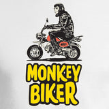 monkey biker design white background