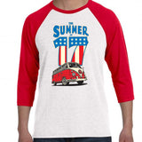 The Summer of 17 Volkswagen Red/White Baseball Shirt